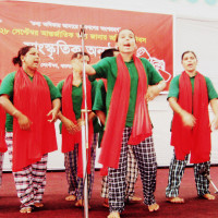 Cultural performance by Nijera Kori on RTI day organised by RTI commission at national level