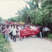 Demonstration against unplanned garbage dumping in Tangail