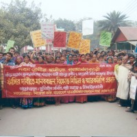 Demonstration against violence on women