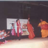 Drama and Pot song perfomance at Rabindra Shorobor on Golden jubilee of Nijera Kori