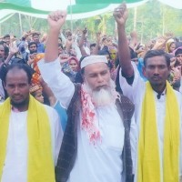 Expression of oath of Landless elected leaders in committee convection