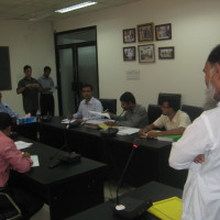 Hearing session by the RTI Commission after  complaints were submit by landless members