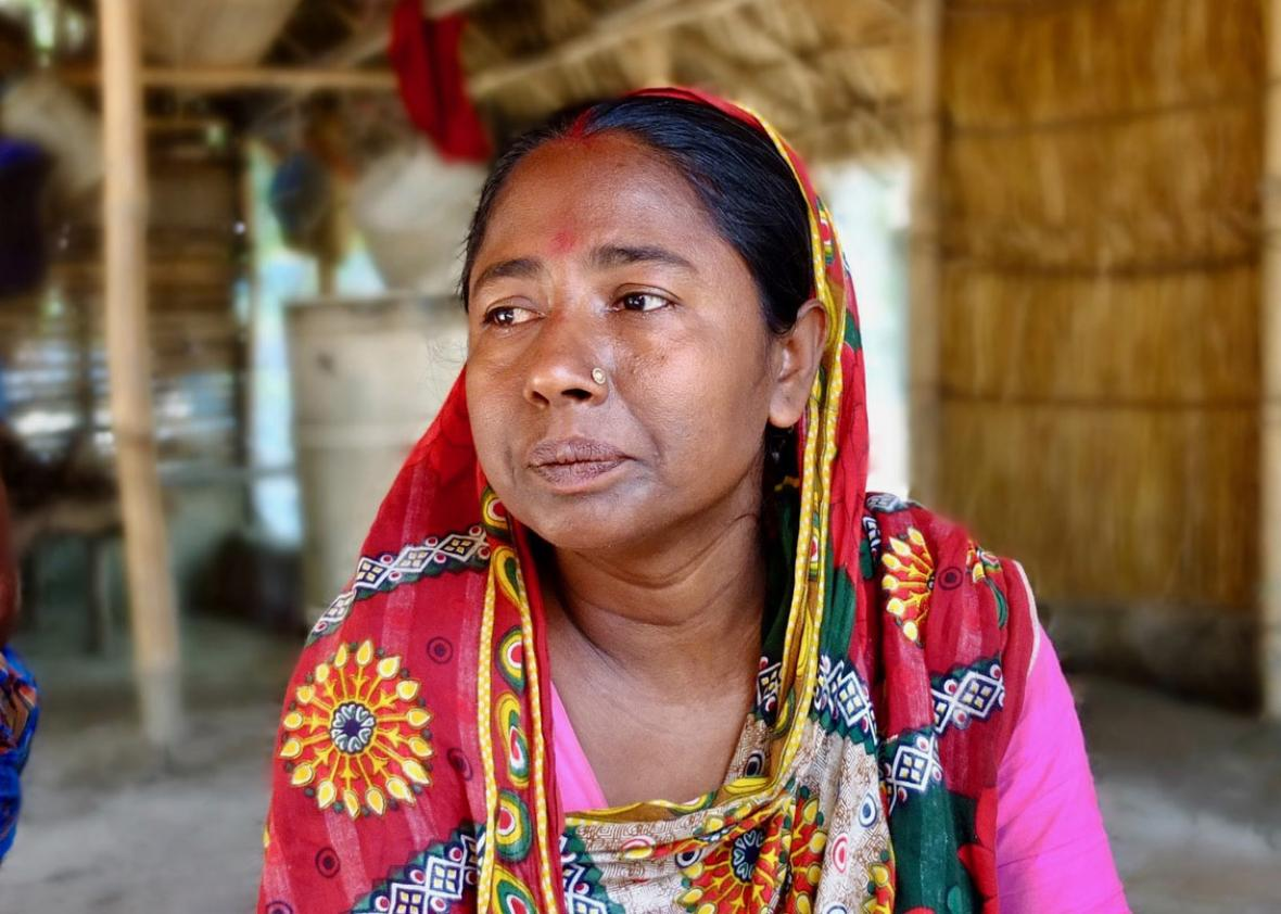 Farmer Shondha Rnai is struggling due to the lack of fresh water on her island. Photo: Eduardo Garcia Gil
