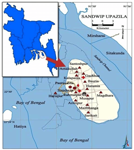Map of Sandwip